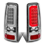 2005 Chevy Suburban Chrome LED Tail Lights Tube