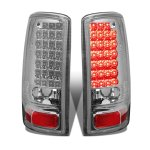 2005 Chevy Suburban Chrome LED Tail Lights