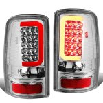 Chevy Tahoe 2000-2006 Chrome LED Tail Lights Red Tube