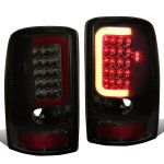 2002 GMC Yukon XL Smoked LED Tail Lights Red Tube