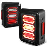 2013 Jeep Wrangler JK Custom LED Tail Lights Red Tube