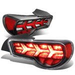 Scion FRS FT86 2013-2017 Black LED Tail Lights Clear Signal