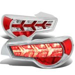 Scion FRS FT86 2013-2017 Chrome LED Tail Lights Clear Signal