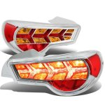 Scion FRS FT86 2013-2017 Chrome LED Tail Lights Amber Signal
