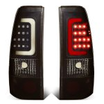 2000 GMC Sierra Black Smoked LED Tail Lights Tube