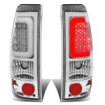 2002 Chevy Silverado 2500HD Chrome LED Tail Lights Tube
