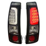 2002 Chevy Silverado 2500HD Smoked LED Tail Lights Tube