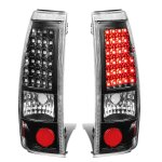Chevy Silverado 3500 2001-2002 Black LED Tail Lights