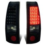 2002 Chevy Silverado 2500HD Black Smoked LED Tail Lights