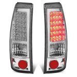 Chevy Silverado 3500 2001-2002 Chrome LED Tail Lights