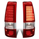 Chevy Silverado 3500 2001-2002 Red LED Tail Lights