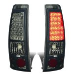 Chevy Silverado 3500 2001-2002 Smoked LED Tail Lights