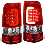GMC Sierra 3500 2001-2006 LED Tail Lights Red Tube