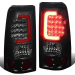 2002 Chevy Silverado 2500HD Smoked LED Tail Lights Red Tube