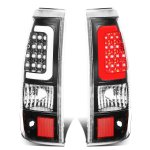 2003 Chevy Silverado Black LED Tail Lights Tube