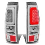 2003 Chevy Silverado Chrome LED Tail Lights Tube