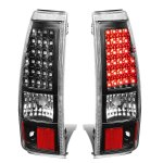 Chevy Silverado 3500 2003-2006 Black LED Tail Lights