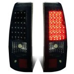 Chevy Silverado 3500 2003-2006 Black Smoked LED Tail Lights