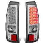 Chevy Silverado 3500 2003-2006 Chrome LED Tail Lights