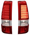 2004 Chevy Silverado 3500 Red LED Tail Lights