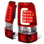 2004 Chevy Silverado 1500HD LED Tail Lights Red Tube