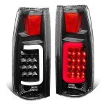Cadillac Escalade 1999-2000 Black LED Tail Lights Tube