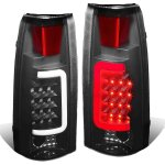 GMC Yukon Denali 1999-2000 Black Smoked LED Tail Lights Tube