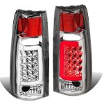 1998 Chevy 3500 Pickup Chrome LED Tail Lights Tube