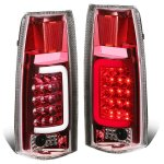 1996 Chevy Tahoe Red LED Tail Lights Tube