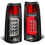 GMC Sierra 1988-1998 Smoked LED Tail Lights Tube
