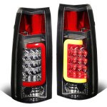 Chevy Suburban 1992-1999 Smoked LED Tail Lights Red Tube