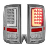 2012 Dodge Ram Chrome LED Tail Lights Tube