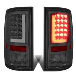 2012 Dodge Ram Smoked LED Tail Lights Tube