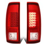 2001 Ford F250 Super Duty Red LED Tail Lights