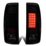 2007 Ford F350 Super Duty Black Smoked LED Tail Lights