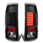 2008 Ford F350 Super Duty Black LED Tail Lights