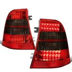 Mercedes Benz M Class 1998-2005 Red Smoked LED Tail Lights
