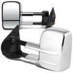 Chevy Silverado 2007-2013 Chrome Towing Mirrors Power Heated
