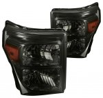 2011 Ford F450 Super Duty Smoked Headlights
