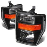 Ford F450 Super Duty 2008-2010 Black Headlights