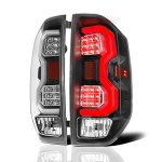 2014 Toyota Tundra Black LED Tail Lights Tube
