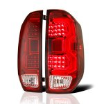 2014 Toyota Tundra LED Tail Lights Tube Red Clear