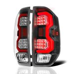2014 Toyota Tundra Black LED Tail Lights Red Tube