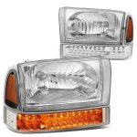 2002 Ford F250 Super Duty Headlights LED Bumper Lights
