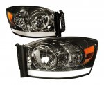 Dodge Ram 2500 2006-2009 Smoked LED DRL Headlights