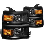 Chevy Silverado 1500 2014-2015 Black Projector Headlights