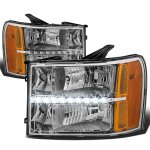 2009 GMC Sierra Headlights LED DRL