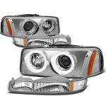 GMC Sierra 3500 2001-2002 Halo Projector Headlights and Bumper Lights