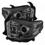 Toyota Tundra 2014-2017 Smoked LED DRL Projector Headlights