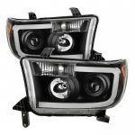 2008 Toyota Tundra Black LED DRL Projector Headlights